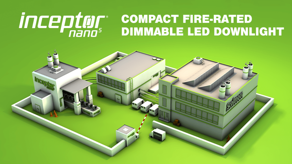 medium resolution of inceptor nano5 fire rated dimmable led downlight