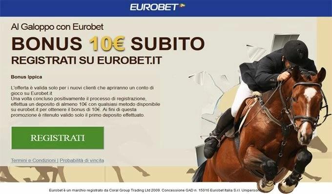Bonus di Eurobet per scommesse Ippica
