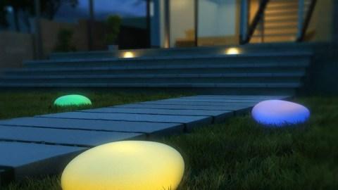 Kealive Colore Regolabile Luce All'Aperto, Forma Di Ciottolo