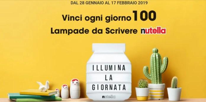 Vinci la Lampada da scrivere Nutella: 100 in palio ogni giorno!