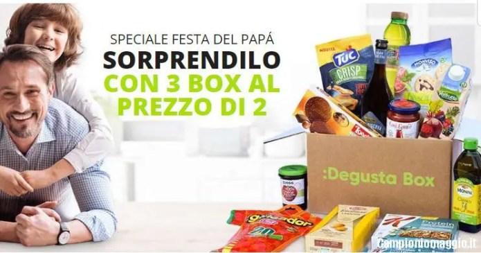 Festa del papà Degustabox: 3 box al prezzo di 2