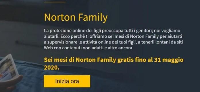 Norton Family GRATIS per 6 mesi