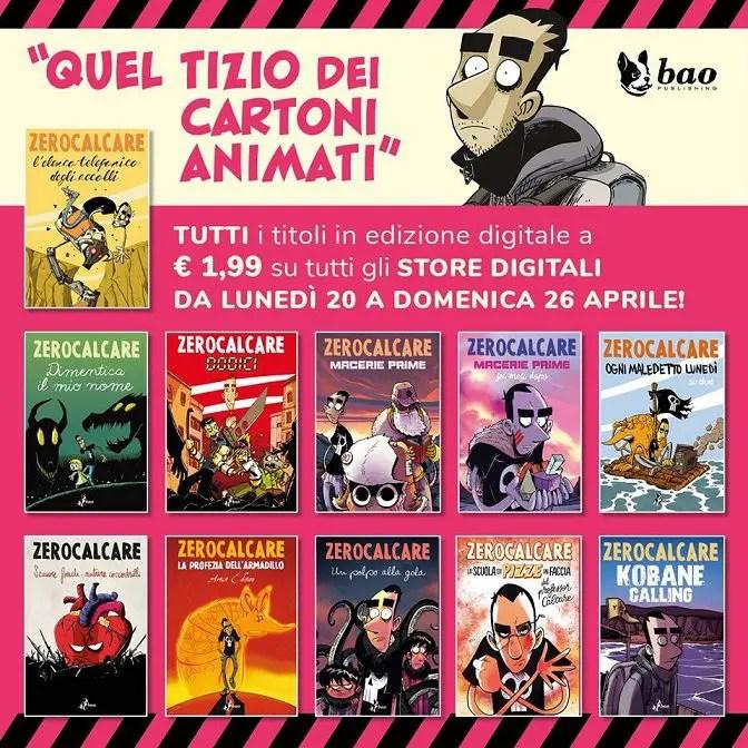 ZEROCALCARE: I suoi fumetti in promozione a 1,99€