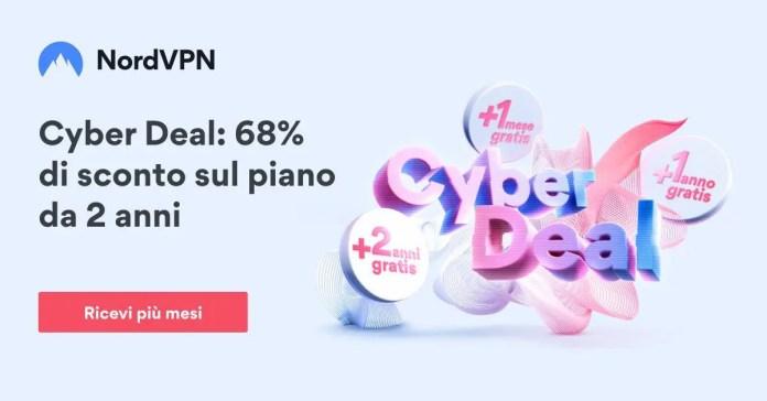NordVpn: 68% di sconto sul piano da 2 anni e un regalo a sorpresa, gratis!