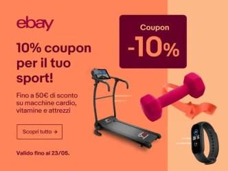 coupon ebay per sport e fitness