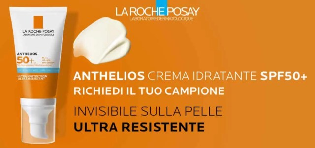 campione gratuito Anthelios SPF50+ de La Roche-Posay