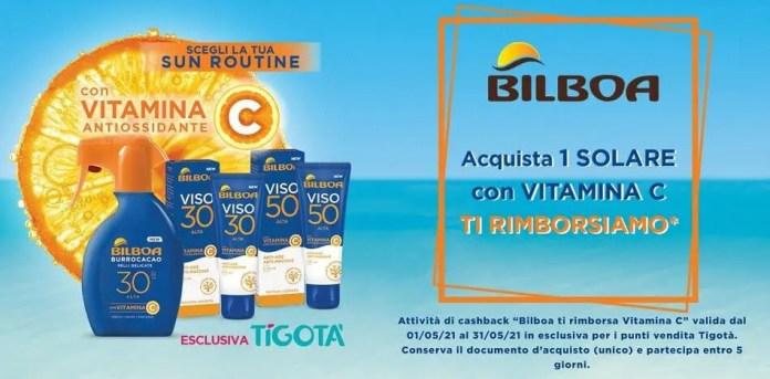 """""""Bilboa ti rimborsa Vitamina C"""" da Tigotà: ricevi il rimborso del solare"""