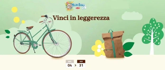 """Concorso Mulino Bianco """"Vinci in leggerezza"""": in palio zaini e biciclette"""
