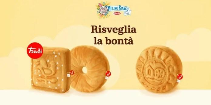 """Concorso Mulino Bianco """"Risveglia la bontà"""": in palio 100 cuscini biscotto by Trudi"""