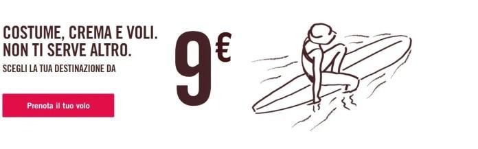 Voli con Volotea a partire da 9 euro