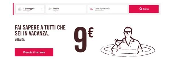 Volotea voli da 9 euro