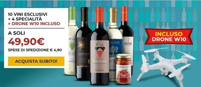 Promozione Giordano Vini: Vini esclusivi, specialità alimentari e un drone incluso nel prezzo!