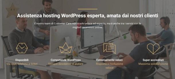 assistenza hosting siteground