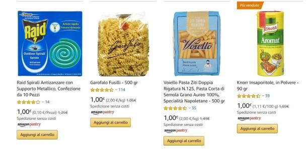 esempi offerte amazon pantry