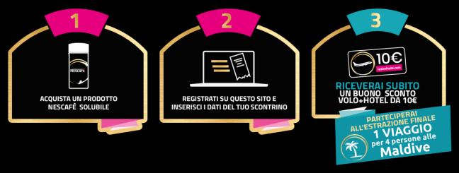 Concorso nescafe solubile Con Nescafè solubile ricevi un voucher Lastminute come premio sicuro e partecipi allestrazione finale