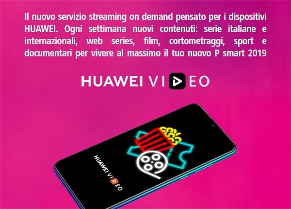 www.scontrinofelice.it img 4642 Acquista Huawei P Smart 2019 e ricevi come premio sicuro SoundStone Portable Bluetooth Speaker e  50€ da spendere su Huawei Video
