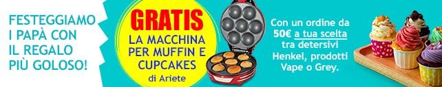 www.scontrinofelice.it bz1 182 19 promo 642x127 Ricevi una macchina per muffin e cupcakes Ariete acquistando su CasaHenkel