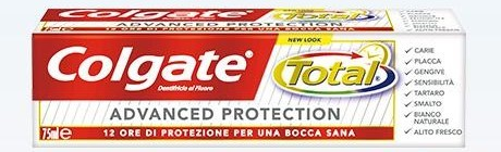 "colgate dentifricio total advanced protection 75 ml Concorso ""Colgate  Total   Missione Bocca Sana 2019"": vinci 5 anni di internet gratis!"