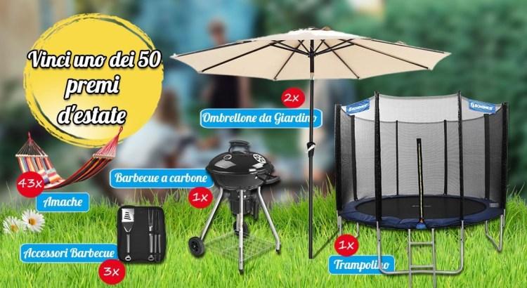 Accessori Ombrelloni Da Giardino.Songmics Giveaway D Estate Vinci Gratis Trampolino Barbecue