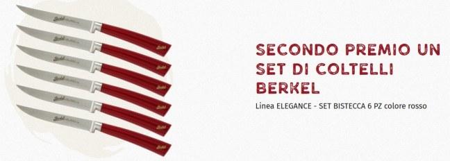 Coltelli Berkel Vota la pizza che preferisci e vinci 1 viaggio a Parigi, Londra o Barcellona e un set di coltelli Berkel Elegance
