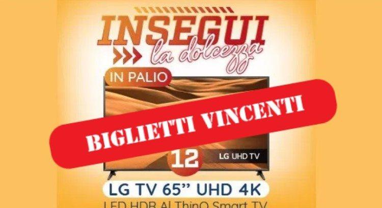 Biglietti vincenti Concorso Spaccio Galbusera