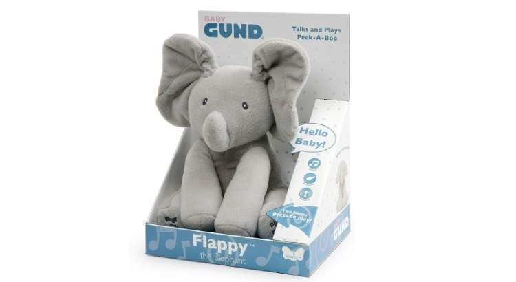 GUND-Flappy elefantino Peluche Interattivo parlante