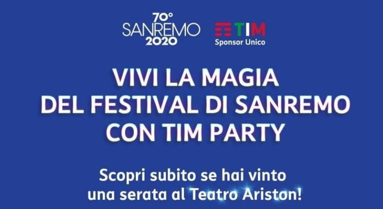 Vinci il Festival di Sanremo con TIM