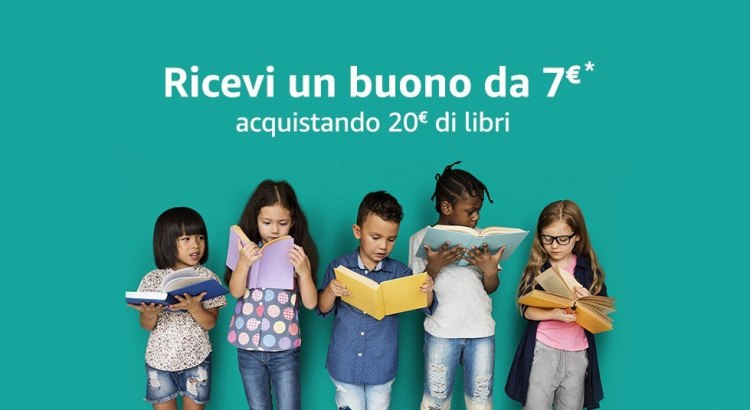 acquista libri su AMAZON e ricevi un buono AMAZON da 7€