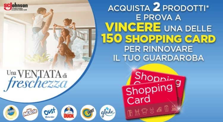 Concorso Glade Oust Duck Pronto Shout Mr Muscle vinci Gift Card abbigliamento H&M