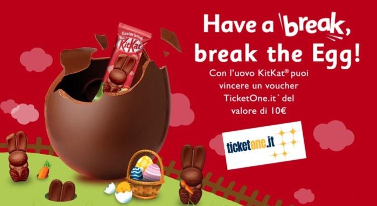 Uova di Pasqua KitKat vinci Ticketone da 10 Euro