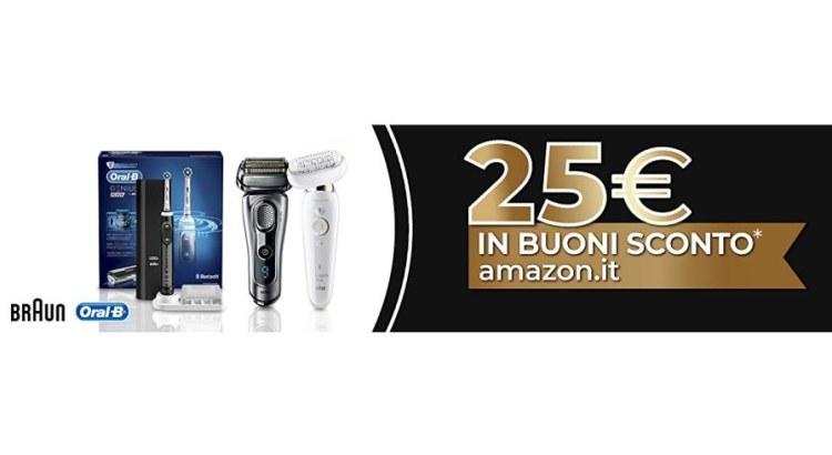 Acquista Braun e Oral B e ricevi un buono Amazon da 25 euro