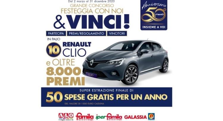 concorso a premi anniversario 50 anni di Maxi Di da Famila, Galassia, Di Più e A&o