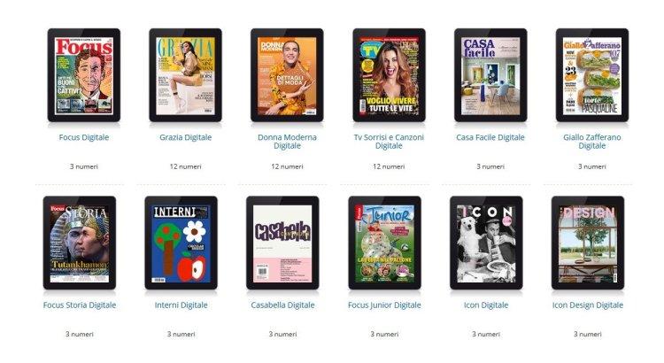 Riviste Mondadori in versione digitale gratis per 3 mesi