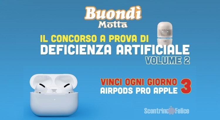 Buondì Motta Il concorso a prova di deficienza artificiale vinci Apple Air Pods Pro
