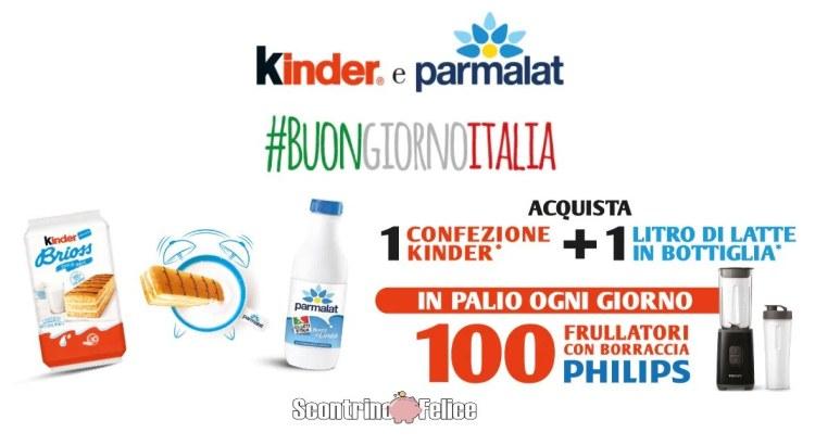 Concorso Kinder Ferrero Parmalat vinci frullatore Philips
