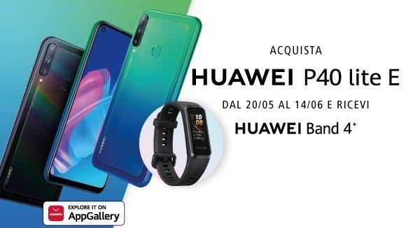 Huawei P40 lite E ricevi Huawei band 4 come premio certo