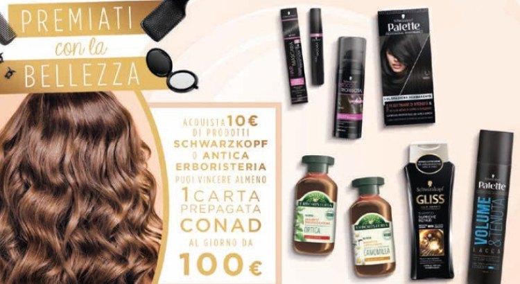 concorso a premi Schwarzkopf e Antica Erboristeria da Conad Premiati con la bellezza