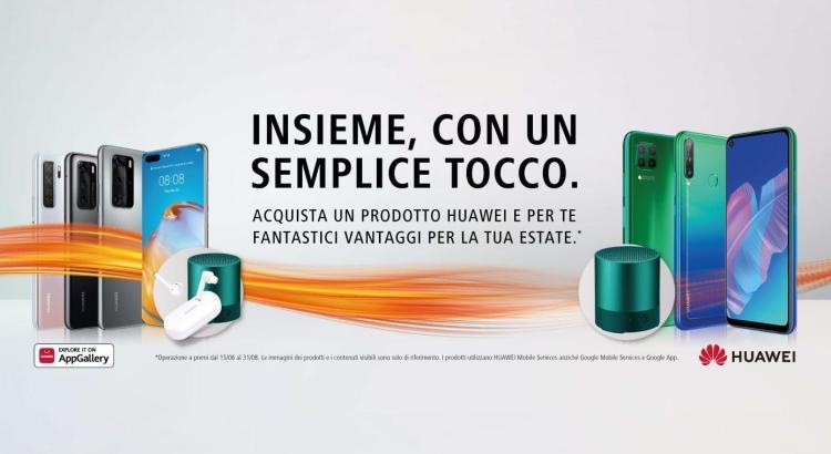 Huawei P40 P40Pro Lite 5G E ricevi in regalo auricolari Huawei Freebuds 3i Minispeaker