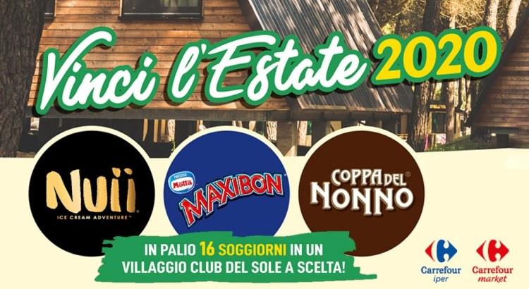 concorso a premi Nuii Maxibon Coppa del Nonno Vinci l Estate 2020 da Carrefour