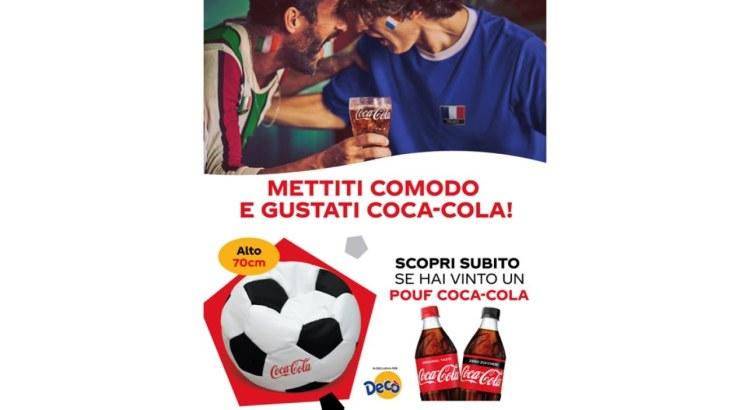 Concorso Coca-Cola da Decò vinci 50 Pouf a forma di pallone da calcio