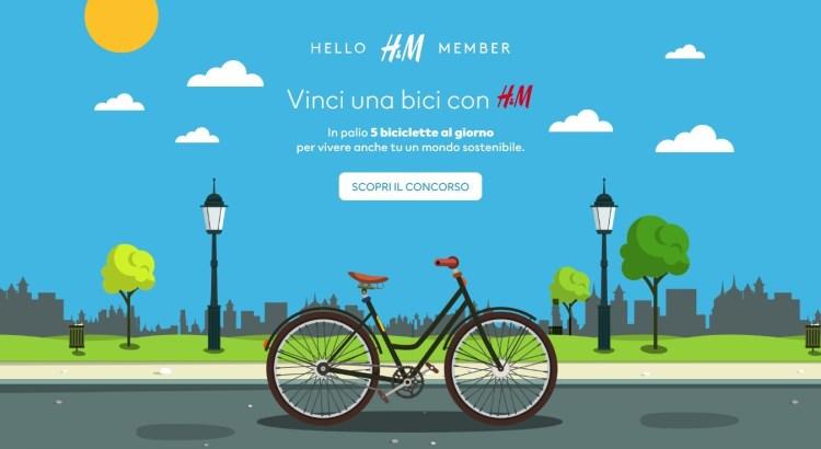 Concorso gratuito H&M: vinci 5 biciclette Olmo al giorno!