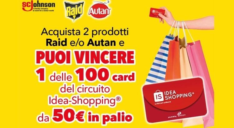Concorso Raid e Autan vinci Gift Card Idea Shopping