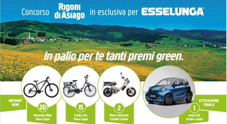 Concorso Rigoni Di Asiago da Esselunga vinci smart EQ Fortwo coupe