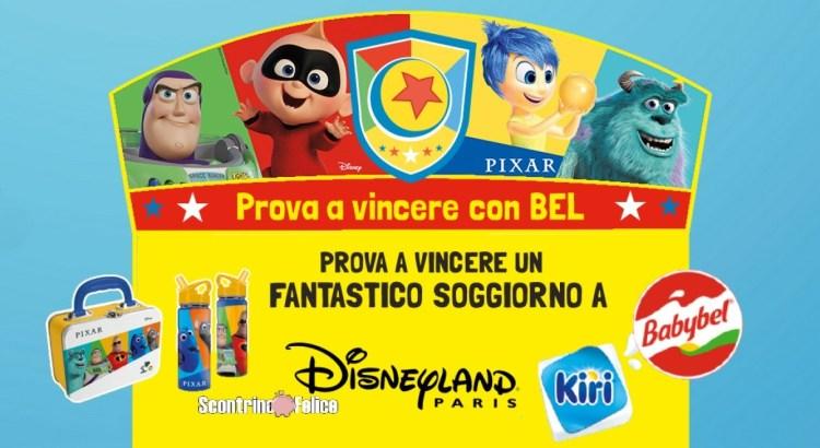 Concorso Babybel e Kiri Dippi vinci borraccia lunchbox Disney e soggiorno Disneyland