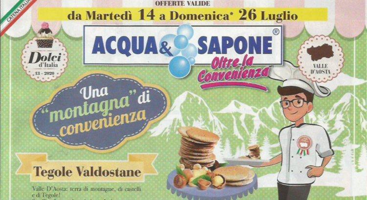 Anteprima Concorsi e iniziative nuovo Volantino Acqua e Sapone valido dal 14-07 al 26-07 2020 - Scontrino Felice