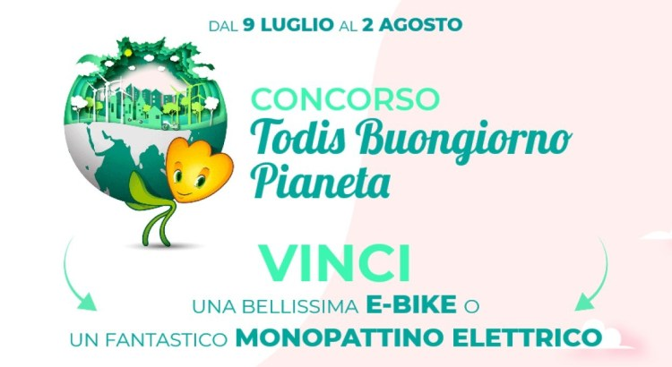 Todis Buongiorno Pianeta vinci GRATIS monopattino o bici elettrica Prismalia