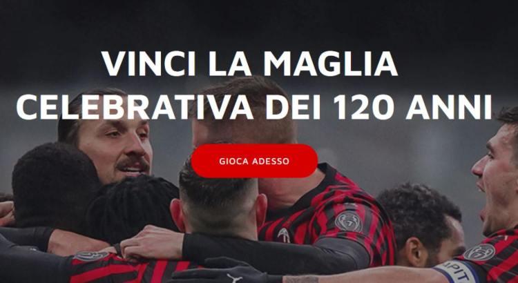 Vinci gratis esclusiva maglia 120 anniversario AC Milan