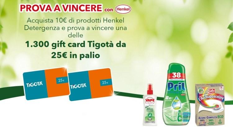 Concorso Henkel e Vape da Tigotà agosto 2020
