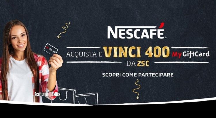Concorso Nescafè vinci MyGiftcard da 25 euro