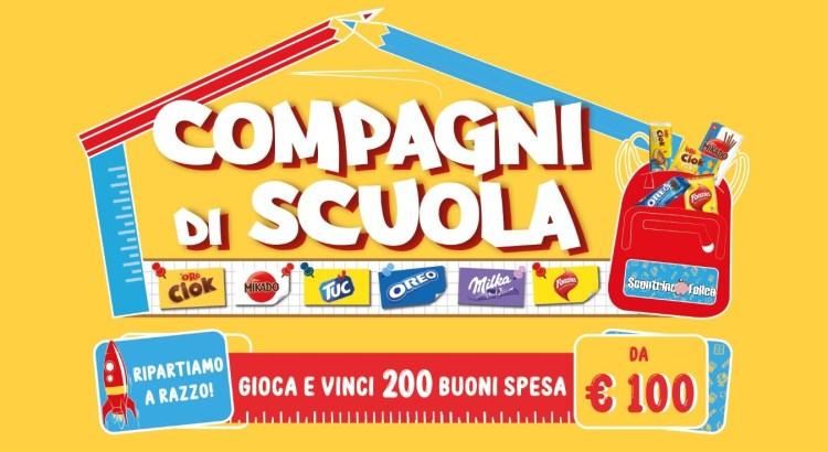 Concorso Oreo Milka Oro Ciok Fonzies Tuc COMPAGNI DI SCUOLA 2020